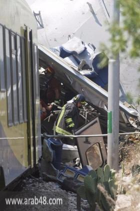إيطاليا: 20 قتيلا جراء اصطدام بين قطارين