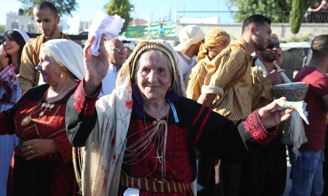 عرس فلسطيني تراثي في شوارع بيرزيت