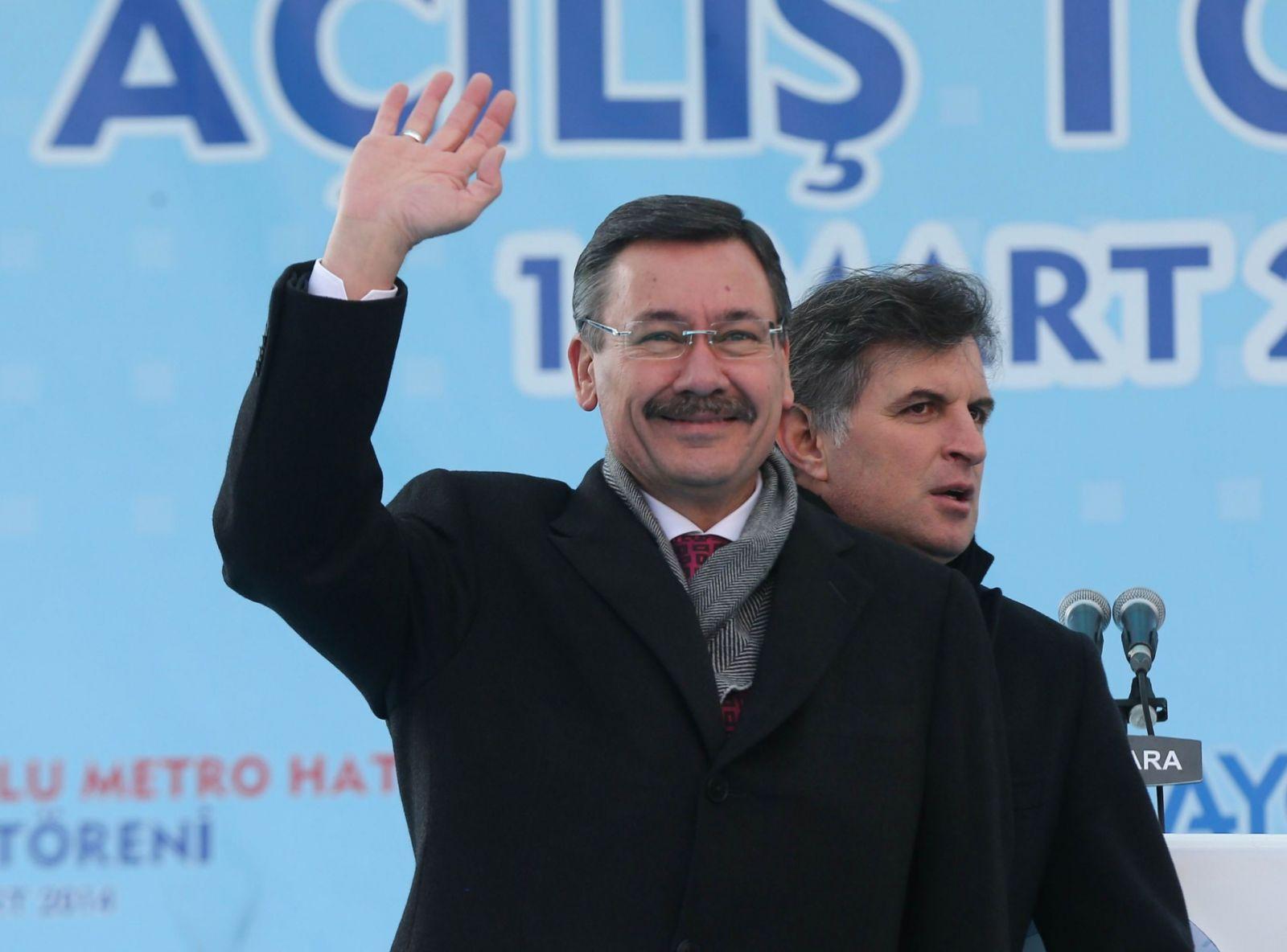 رئيس بلدية أنقرة الكبرى، العام الماضي (أ.ف.ب)