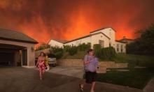 حريق هائل في كاليفورنيا وإجلاء مئات السكان