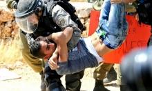 اعتقال فلسطيني ومتضامنة خلال قمع مسيرة بلعين