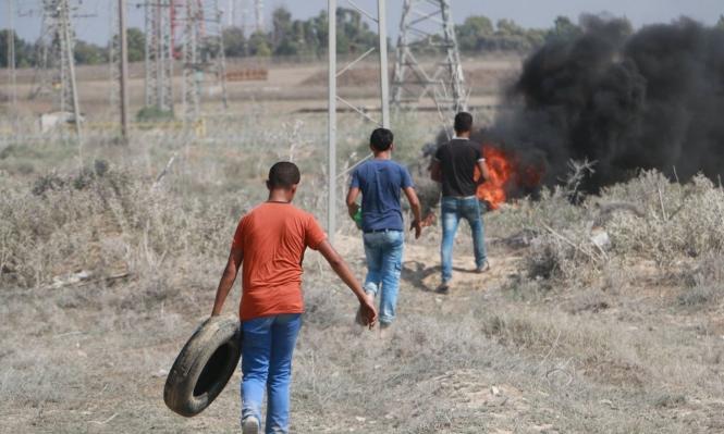 مواجهات وإصابات بالرصاص الحي شرق غزة