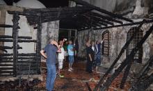 عكا: السيطرة على حريق هائل في مسجد الجزار