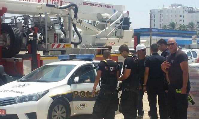 عكا: سقوط عامل عن رافعة بورشة عمل