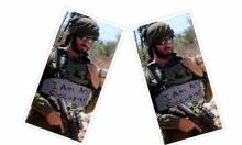 """فلسطينيون """"يكتبون"""" على جنود الاحتلال """"أنا محتل"""""""