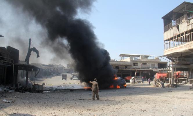 النظام وروسيا يكثفان القصف على إدلب وحلب