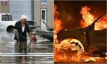 إجلاء الآلاف بسبب فيضانات لويزيانا وحرائق كاليفورنيا