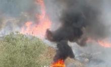 جث الجليل: اندلاع حريق في منطقة وعرية
