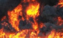 رام الله: حريق ضخم في بناية ممثليات وسفارات