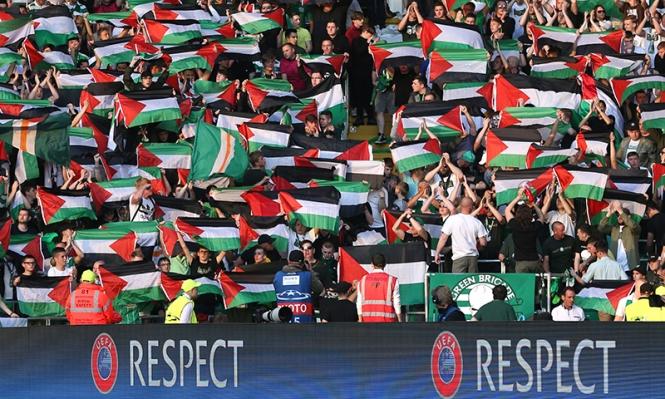 سيلتيك سيواجه العقوبة بسبب رفع أعلام فلسطين