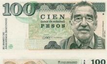 ورقة نقدية تحمل صورة غارسيا ماركيز لتكريمه