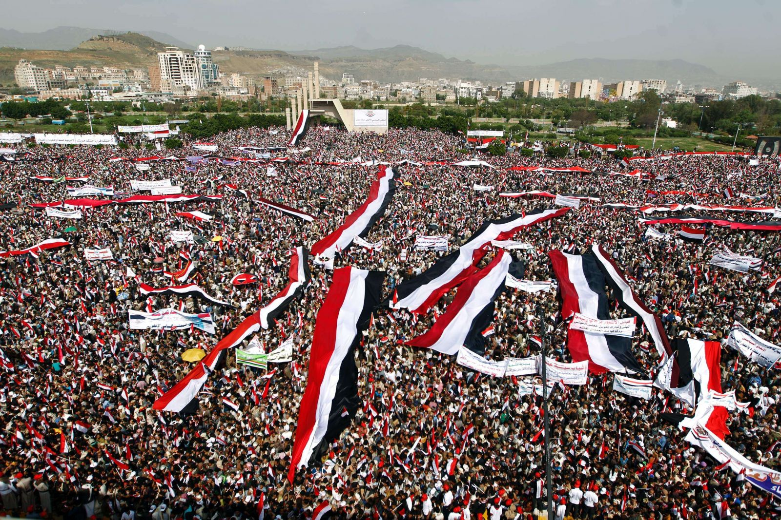 الحوثيون يحشدون في صنعاء (أ.ف.ب)