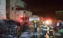 كفر ياسيف: حريق يلتهم 5 سيارات ويخلف حالات اختناق