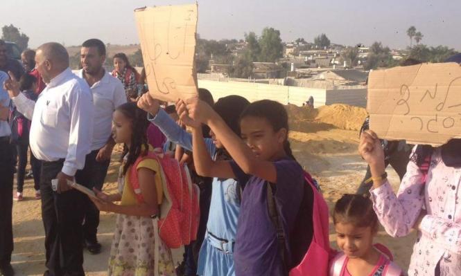 النقب: طلاب وأهال يشاركون بوقفة احتجاجية على شارع 31