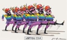 رسم كارتوني يشبه المثليين بالنازيين يثير غضب الأستراليين