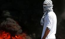 نابلس: توثيق جنود الاحتلال وهم يضرمون النار بمخزن أخشاب