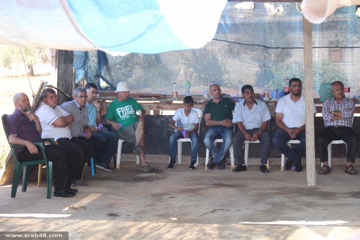 تظاهرة لمنع تجريف مقبرة رمية