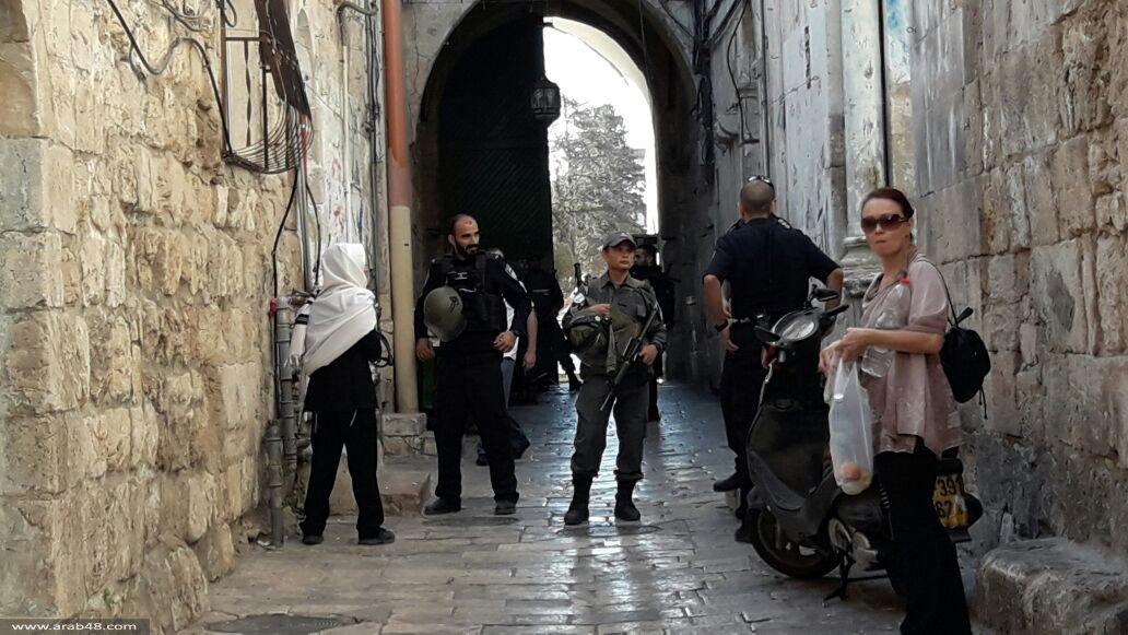 إسرائيل تمنع من فلسطينيي 48 الصلاة بالأقصى