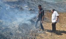 كفر مندا: حريق هائل قرب كروم الزيتون