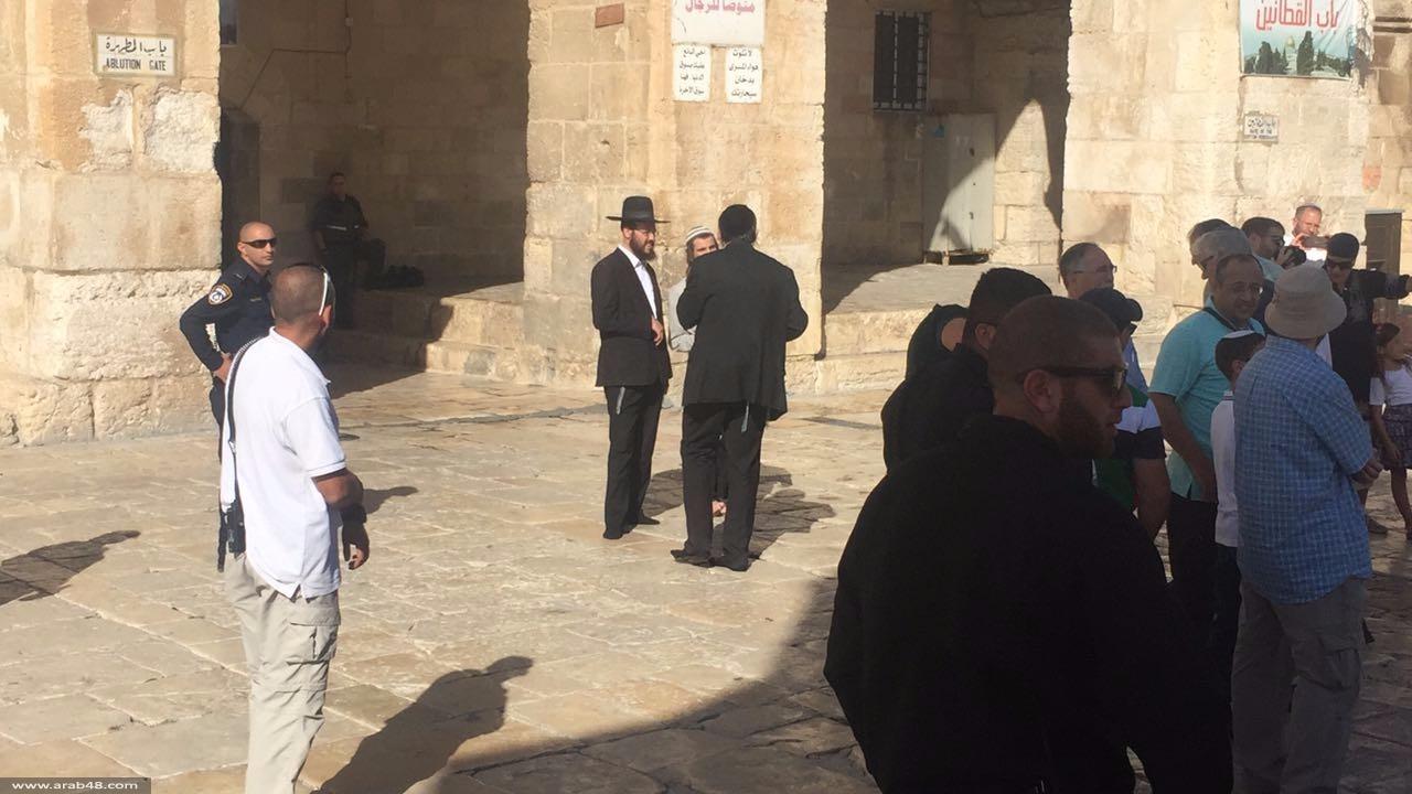 """المستوطنون يقتحمون الأقصى عشية """"العرش """" العبري"""