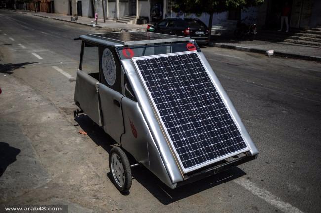 """غزة: أول سيارة """"محلية"""" تعمل بالطاقة الشمسية"""