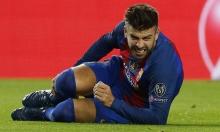 بيكيه يغيب عن برشلونة 3 أسابيع