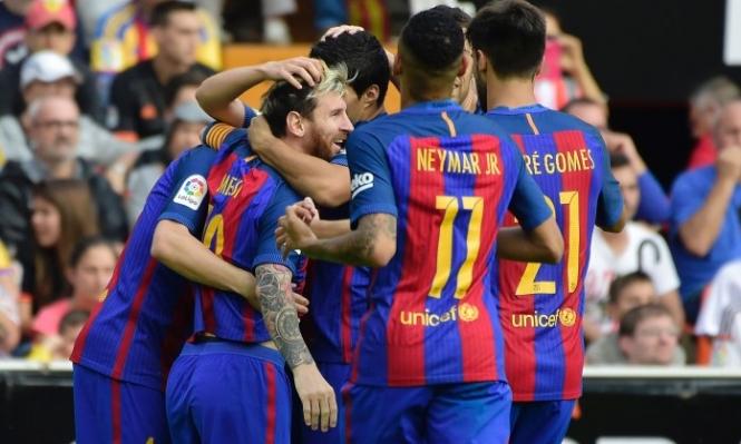 ميسي يقود برشلونة لتخطي فالنسيا بالدقيقة الأخيرة
