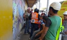 إصابة 8 عمال بورشة بناء في تل أبيب