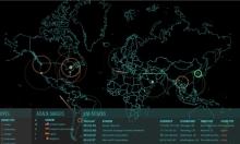 خريطة مباشرة للهجمات الإلكترونية في العالم