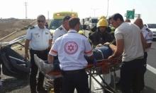 النقب: إصابة شخص في حادث سير قرب رهط