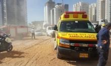إصابة خطيرة لعامل بورشة بناء في مركز البلاد