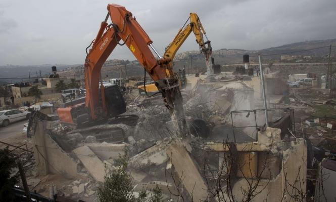 الاحتلال يهدم بناية ثالثة بالقدس اليوم