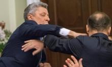 جلسة بالبرلمان الأوكراني تتحول لمباراة ملاكمة