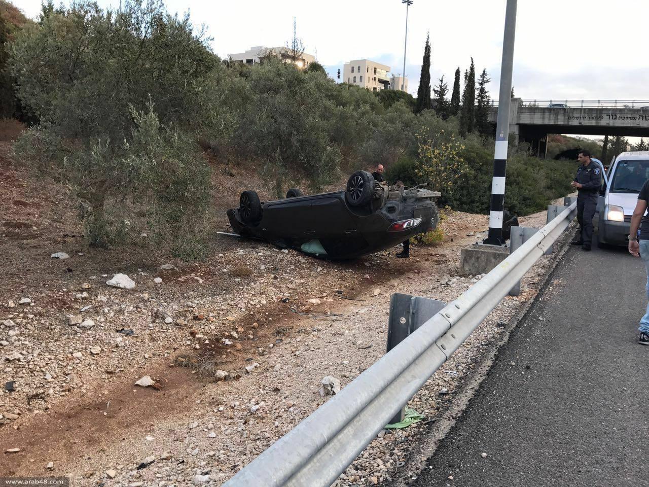 مجد الكروم: إصابة فتاة بحادث قرب كرميئيل