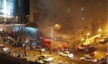 أم الفحم: 3 مصابين في حريق هائل بمجمع تجاري