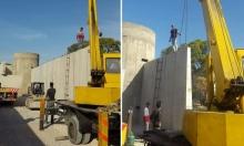 حماس تنتقد بناء جدار العار حول عين الحلوة