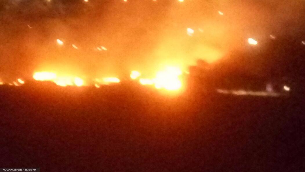 حريق بين باقة وجت وآخر في حرش ميسر
