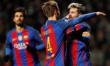 ميسي يقود برشلونة لثمن نهائي دوري أبطال أوروبا