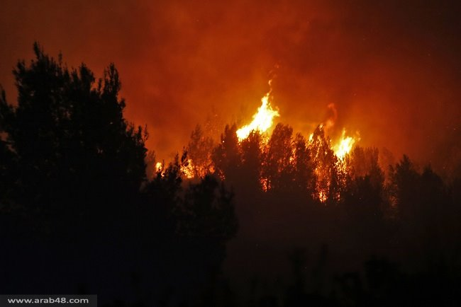 """إجلاء سكان """"نطاف"""" عن منازلهم والإطفاء يتأهب بالقدس"""