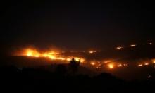 حريق هائل بين قريتي المشهد وكفر كنا