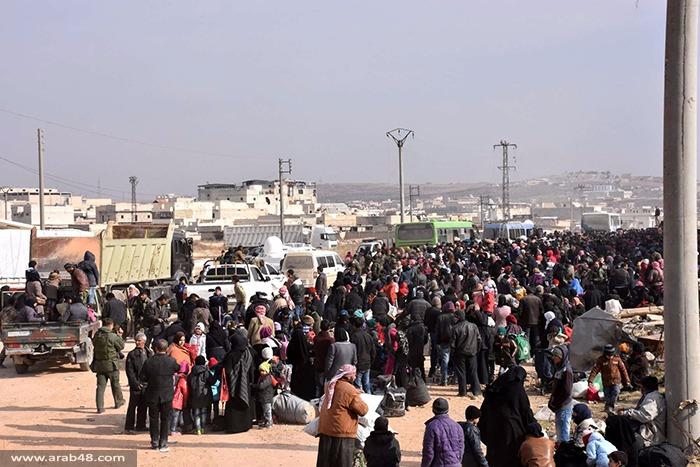 حلب: أكثر من 20 ألف نازح خلال 48 ساعة