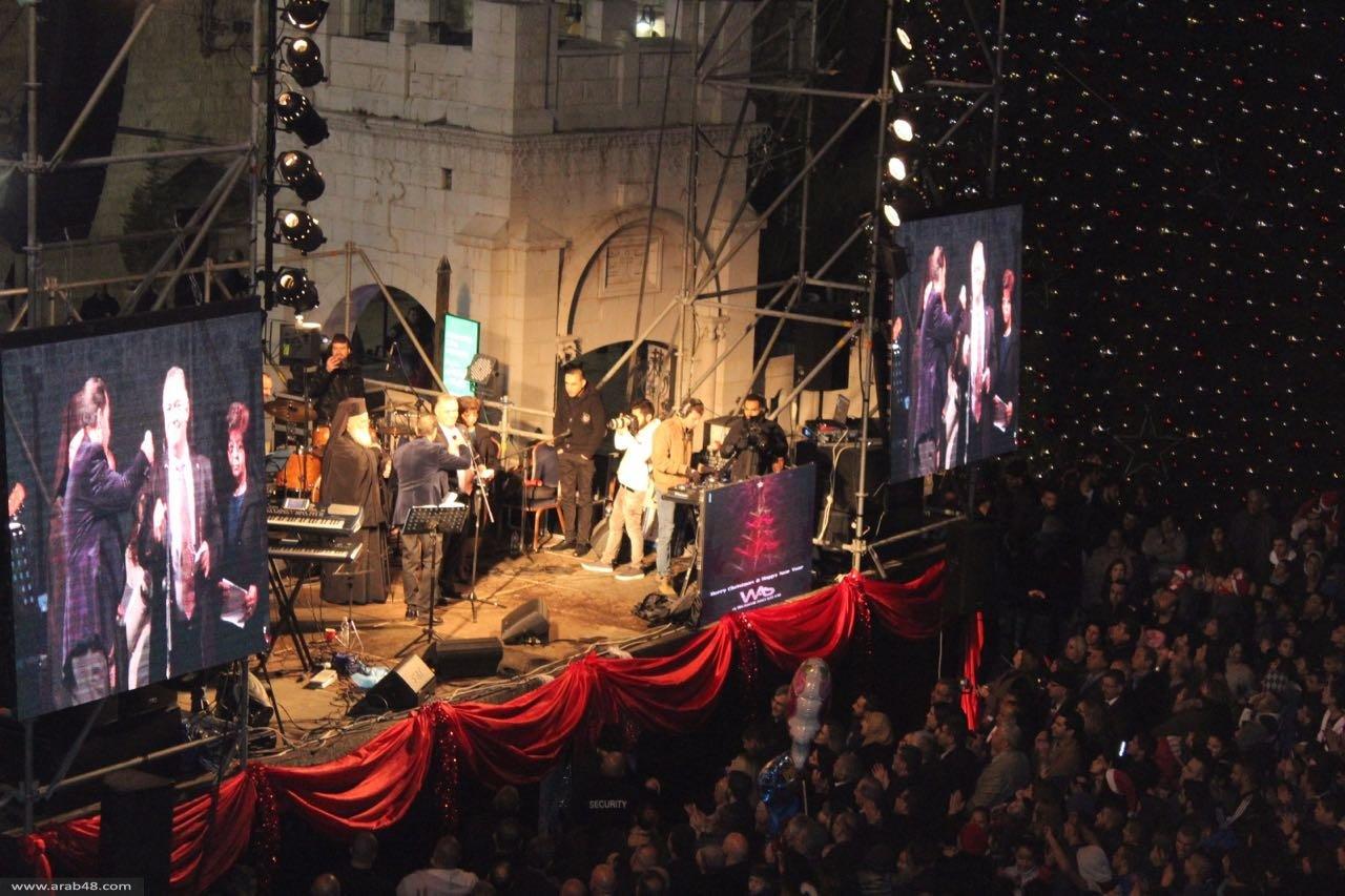الناصرة تضيء شجرة الميلاد الأضخم بالشرق الأوسط