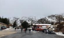 الثلوج تتساقط في جبل الشيخ (صور)