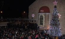 الرامة تحتفل بإضاءة شجرة الميلاد