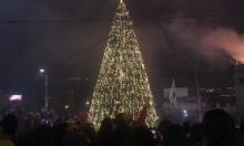 الرامة: المئات يحتفلون بإضاءة شجرة الميلاد في عين الصرار