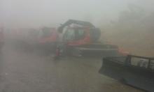 أجواء عاصفة: إغلاق منتجع جبل الشيخ