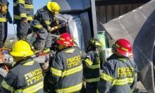 مصرع شخص في حادث بين شاحنتين قرب حيفا