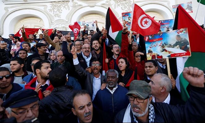 تونس: المئات ينددون باغتيال الزواري ويدعون لتجريم التطبيع