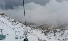 ثلوج كثيفة في جبل الشيخ (فيديو وصور)