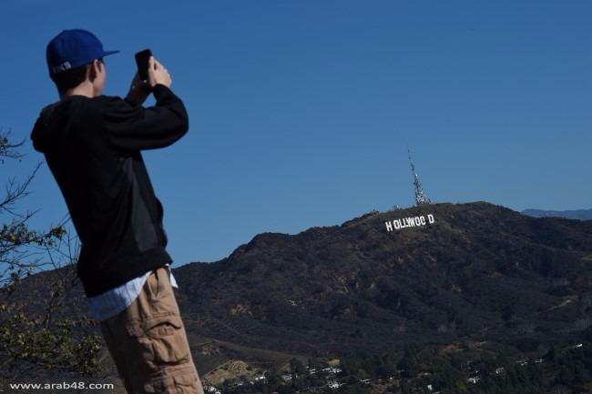 """مجهول يغير لافتة """"هوليوود"""" الشهيرة إلى """"القنب المقدس"""""""